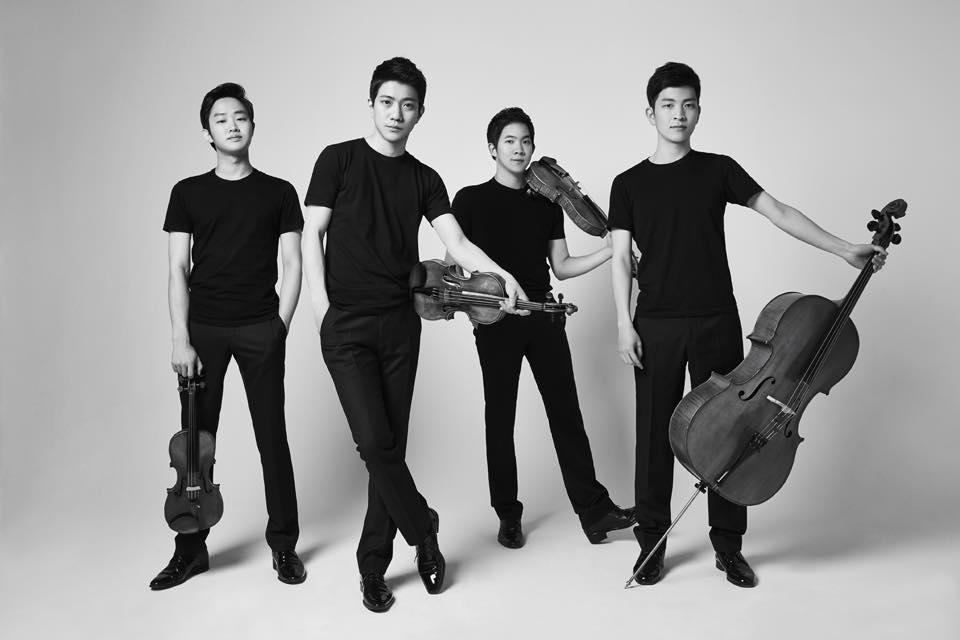 노부스 콰르텟(좌측부터 김재영(바이올린), 김영욱(바이올린), 이승원(비올라), 문웅휘(첼로))